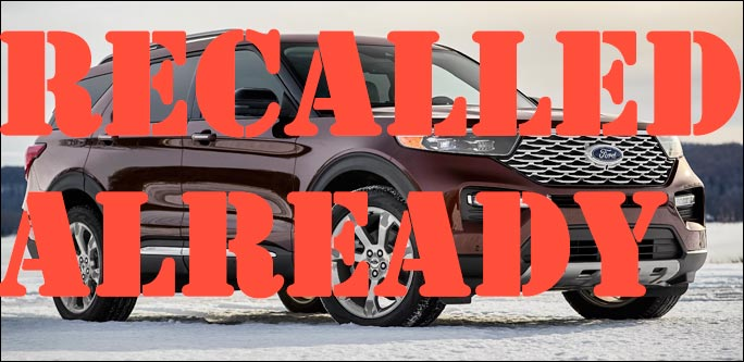 2020 Ford Explorer and Lincoln Aviator recall